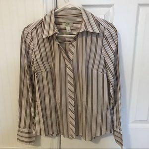 Ann Taylor Loft Size 8 Button Down Shirt